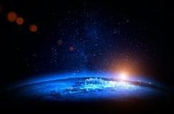 звезды планеты земли предпосылки полные Стоковые Фотографии RF