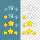 Звезды ранжировки Элементы игры вектора в стиле шаржа иллюстрация вектора