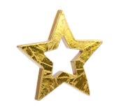 звезды рождества золотистые Стоковое Фото