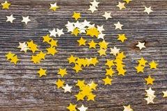 Звезды рождества на древесине Стоковое фото RF