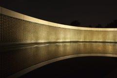 Звезды стены свободы на мемориале Второй Мировой Войны в Вашингтоне Стоковые Изображения RF