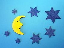 звезды луны jpg eps Стоковое Изображение RF