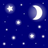 звезды луны jpg eps иллюстрация штока
