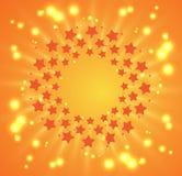 Звезды феиэрверка рождества и Новый Год на небе Стоковое Изображение RF