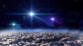 Звезды цвета ночи космоса иллюстрация вектора