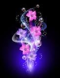 звезды цветков предпосылки накаляя Стоковые Фото