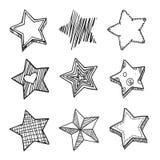 Звезды Doodle Стоковое Фото