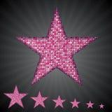Звезды sequin вектора розовые 10 eps Стоковые Изображения