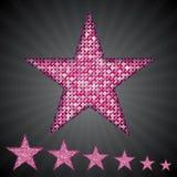 Звезды sequin вектора розовые 10 eps Стоковое Изображение RF