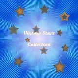 Звезды Sunburst и года сбора винограда Стоковые Изображения RF