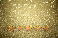 5 звезд Стоковая Фотография RF
