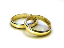 звените венчание Стоковые Изображения