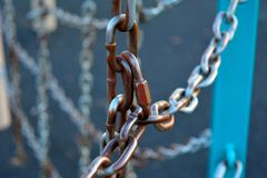 Звенья цепи стоковая фотография rf