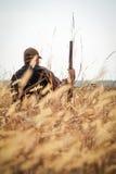 Звероловство дикой утки охотника Стоковое Фото