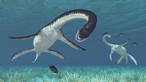 Звероловство Plesiosaurus иллюстрация штока