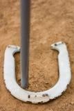 Звонарь в horseshoe игре Стоковое Изображение