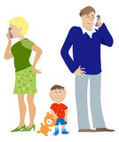 звонить по телефону родителей Бесплатная Иллюстрация