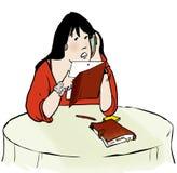 Звонить по телефону женщины Ipad бесплатная иллюстрация