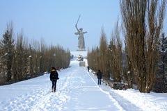 Звонки родины в Волгограде Стоковые Изображения