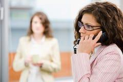 звоноки знонят по телефону получать работник службы рисепшн Стоковые Изображения RF