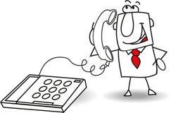 Звонок бизнесмена стоковое изображение