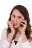 звонок делая женщину Стоковые Фотографии RF