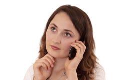 звонок делая женщину Стоковая Фотография
