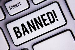 Звонок знака текста запрещенный показом мотивационный Схематический запрет фото на пользе стероидов, никакая отговорка для строит стоковые фотографии rf