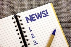 Звонок новостей текста сочинительства слова мотивационный Концепция дела для шариковой ручки ранее неизвестным данным по последни стоковые изображения