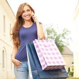 Звонок после ходить по магазинам Стоковая Фотография