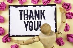Звонок текста почерка спасибо мотивационный Признательность подтверждения приветствию благодарности смысла концепции написанная н стоковое изображение
