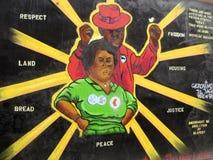 Уважение и правосудие - надпись на стенах Стоковые Фото