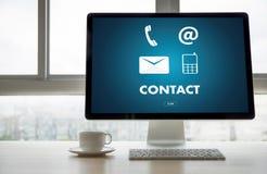 Звонок Custo США КОНТАКТА (люди горячей линии работы с клиентом СОЕДИНЯЮТСЯ) Стоковые Изображения