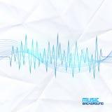 Звуковая война на бумажной предпосылке абстрактный выравниватель иллюстрация штока