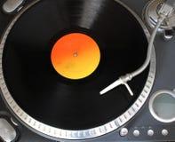 Звуковая система и винил Стоковая Фотография
