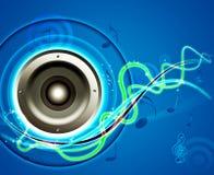звуковая система конструкции предпосылки Стоковое фото RF