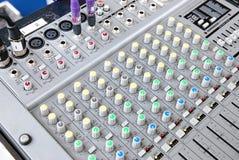 звуковая система пульта Стоковая Фотография