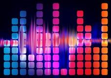 звуковые войны выравнивателя иллюстрация вектора