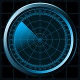звуколокация экрана радара Стоковое Фото