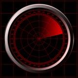 звуколокация экрана радара Стоковая Фотография