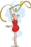 Звукомерная гимнастика - тесемка бесплатная иллюстрация