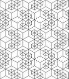 Звукомерный контраст текстурировал бесконечную картину с кубами, continuou иллюстрация штока