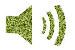 Звук знака, естественная предпосылка трав Стоковые Фотографии RF