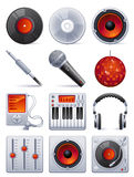 звук иконы установленный Стоковая Фотография