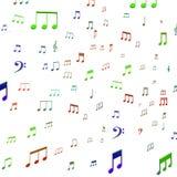 Звук или зрелищность музыки выставок музыкальных примечаний тональнозвуковые иллюстрация штока