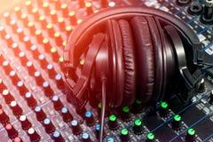 Звук смесителя аудио стоковое изображение rf