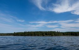 Звук Puget малой воды залива грязи, Олимпия Вашингтон стоковое фото
