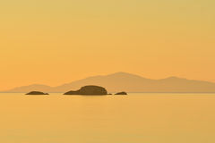 Звук Rassay, Seascape Шотландии стоковое изображение