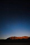 Звёздная ноча на Death Valley, CA Стоковое Изображение RF