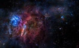 Звёздная предпосылка глубокого космического пространства иллюстрация вектора